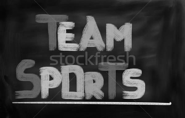 Sporty zespołowe sportowe grupy czasu zespołu życia Zdjęcia stock © KrasimiraNevenova