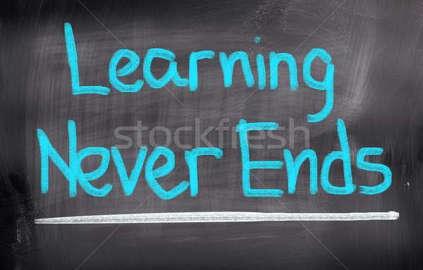 Leren nooit trein communicatie Blackboard leren Stockfoto © KrasimiraNevenova