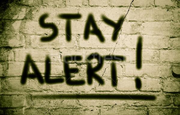 Stay Alert Concept Stock photo © KrasimiraNevenova
