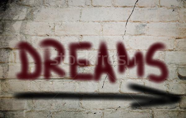 Dromen financieren markt succes droom target Stockfoto © KrasimiraNevenova