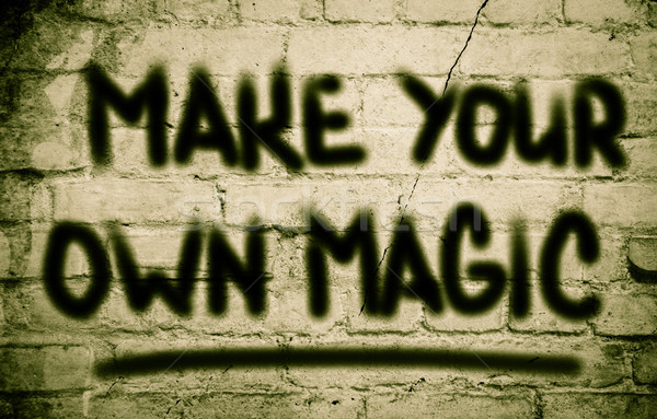 Próprio magia feliz projeto fantasia Foto stock © KrasimiraNevenova