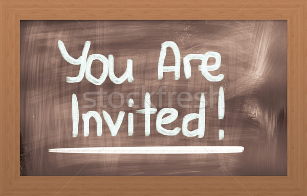 Stock photo: You Are Invited Concept