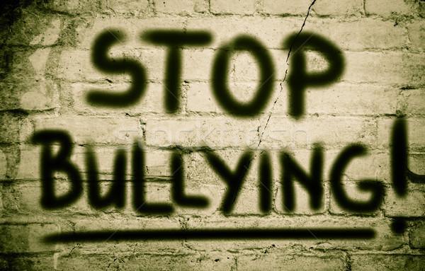 Stop megfélemlítés szomorú fiatal erőszak ötlet Stock fotó © KrasimiraNevenova