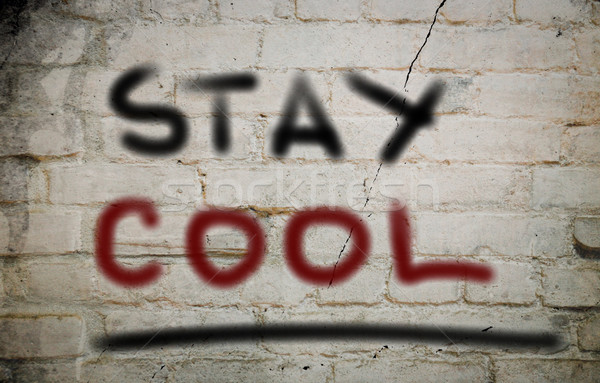 пребывание Cool подчеркнуть баланса остановки текста Сток-фото © KrasimiraNevenova