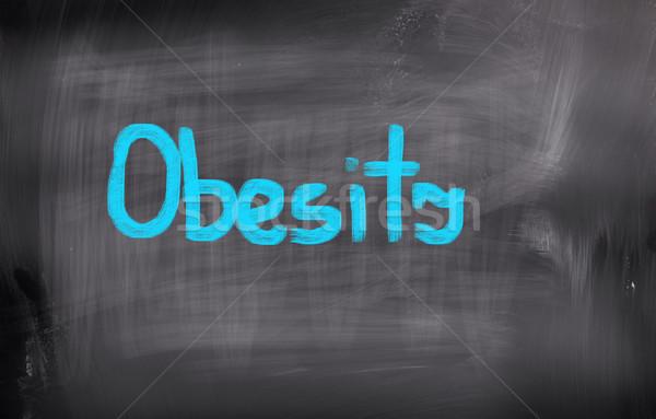Obesidad cuerpo salud éxito comer persona Foto stock © KrasimiraNevenova