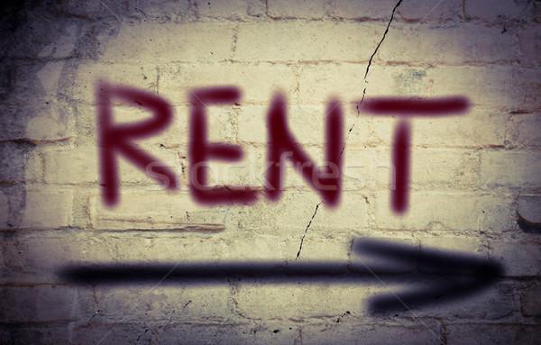 Rent Concept Stock photo © KrasimiraNevenova