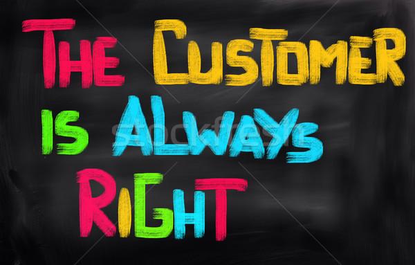 Cliente sempre direito educação indústria serviço Foto stock © KrasimiraNevenova