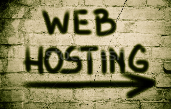 Web Hosting Concept Stock photo © KrasimiraNevenova