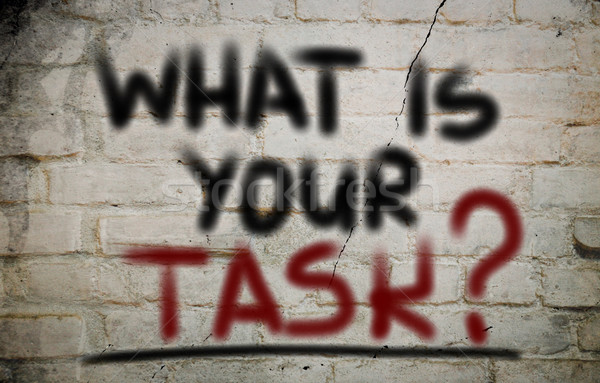 What Is Your Task Concept Stock photo © KrasimiraNevenova