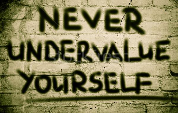 決して あなた自身 文字 スタンド 個人 文字 ストックフォト © KrasimiraNevenova