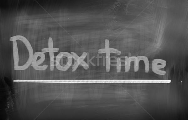 Detoxikáló idő gyümölcs új diéta egészséges Stock fotó © KrasimiraNevenova