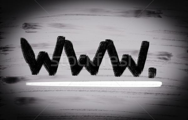 Www computer technologie contact netwerk Zoek Stockfoto © KrasimiraNevenova
