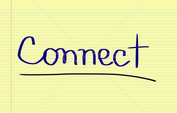 Kapcsolódás internet munka oktatás hálózat utazás Stock fotó © KrasimiraNevenova
