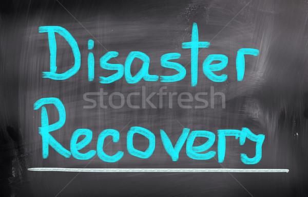 Katastrophe Erholung Business Karte Gesundheit Markt Stock foto © KrasimiraNevenova
