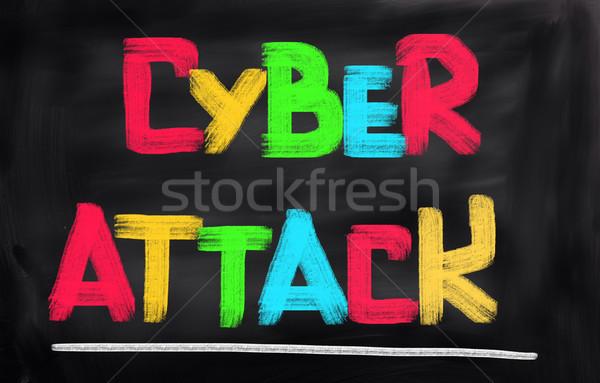 Aanval internet veiligheid digitale criminaliteit veiligheid Stockfoto © KrasimiraNevenova