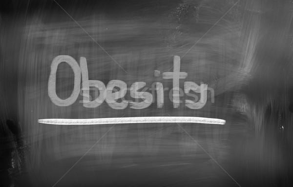 Obésité santé exercice succès manger personne Photo stock © KrasimiraNevenova