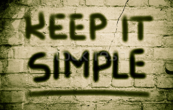 Stock photo: Keep It Simple Concept