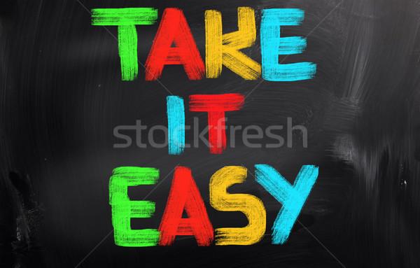 Take It Easy Concept Stock photo © KrasimiraNevenova