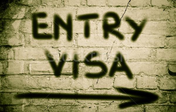Visa affaires terre Voyage Finance carte Photo stock © KrasimiraNevenova