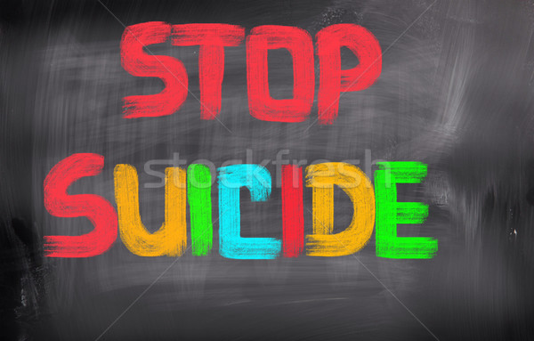 Arrêter suicide éducation morts douleur danger Photo stock © KrasimiraNevenova