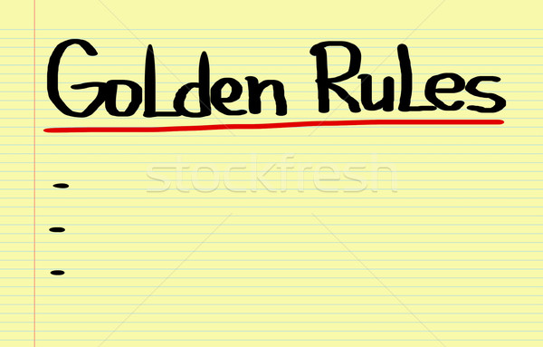 Golden Rules Concept Stock photo © KrasimiraNevenova