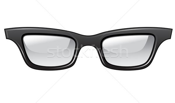 Brutto occhiali design nero retro femminile Foto d'archivio © kraska