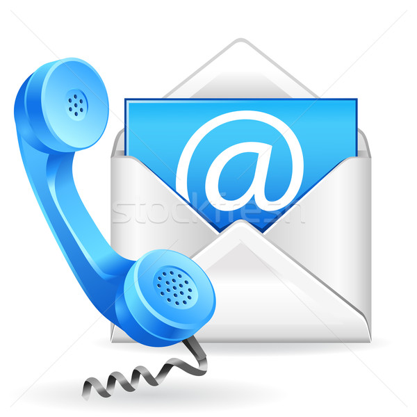 Stock photo: contact us icon