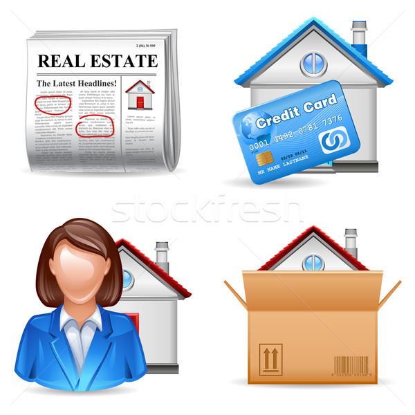Immobilien ad Hypothek Immobilienmakler kaufen Stock foto © kraska