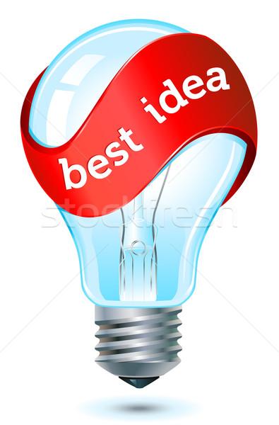 Migliore idea icona rosso banner Foto d'archivio © kraska
