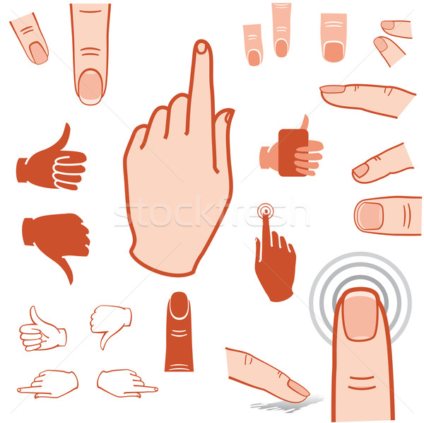 hand and finger icon Stock photo © kraska
