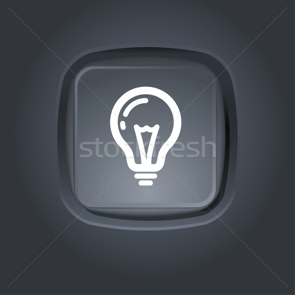 light bulb pictogram Stock photo © kraska
