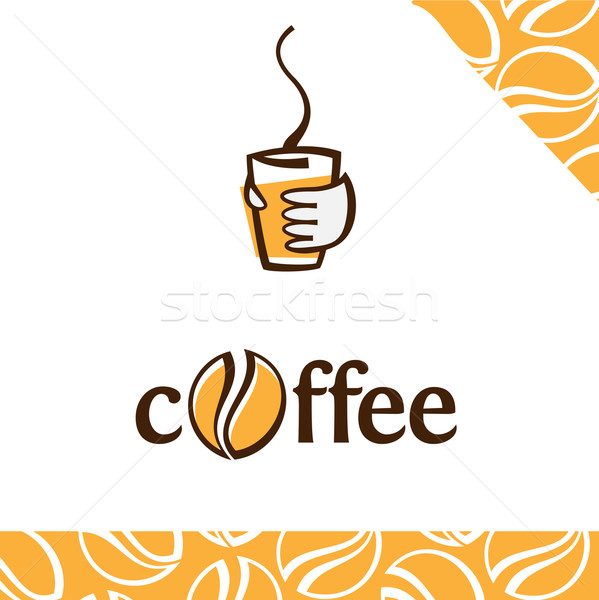 Tazza di caffè caffè carta mano design Cup Foto d'archivio © kraska