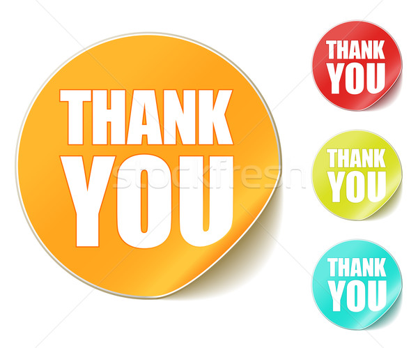 Stock photo: thank you sticker