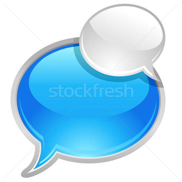 Bubbels vector icon computer groene Blauw Stockfoto © kraska