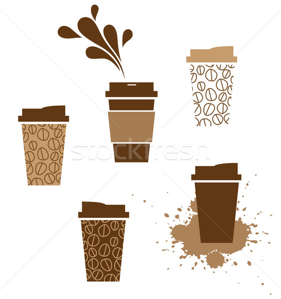 Tazza di caffè caffè carta Cup splash cafe Foto d'archivio © kraska
