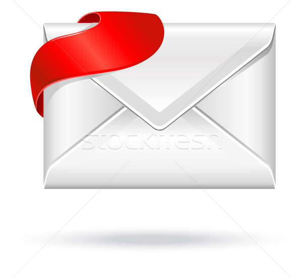 envelope with red sign Stock photo © kraska