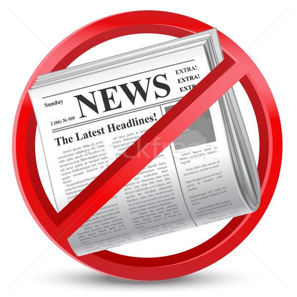 News segno carta news rosso carta Foto d'archivio © kraska