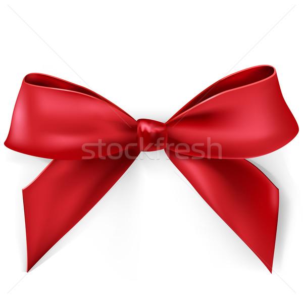 Vettore arco rosso satinato bianco design Foto d'archivio © kraska
