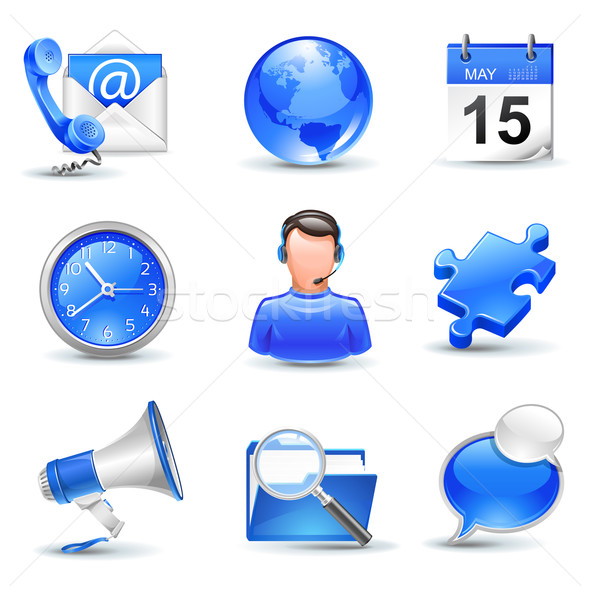 business icons set Stock photo © kraska