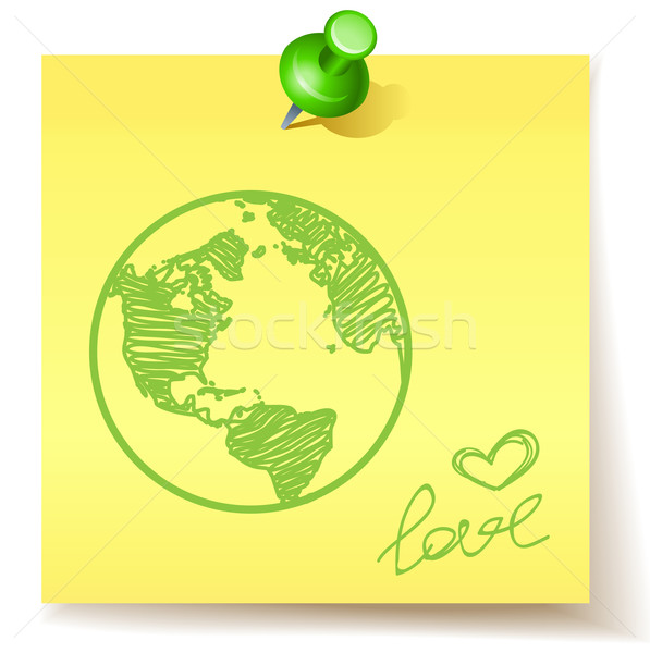 Eco amour vert terre papier monde Photo stock © kraska