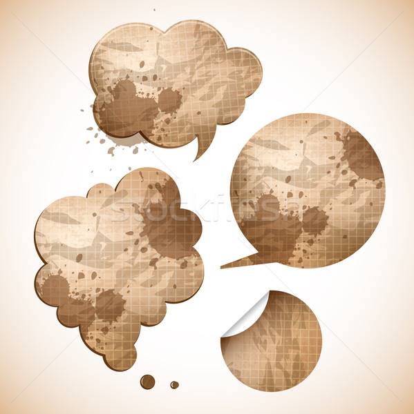Carta parlare bolle adesivo sfondo Foto d'archivio © kraska