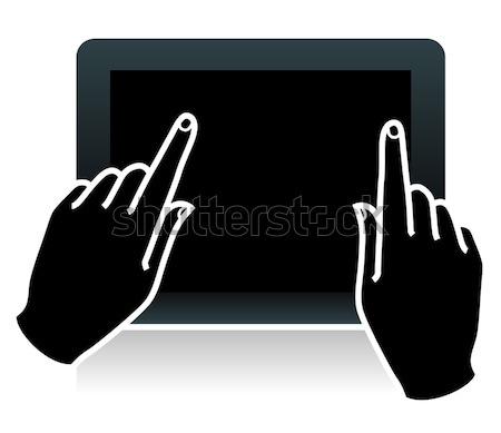 Touch tablet mani digitale mano Foto d'archivio © kraska