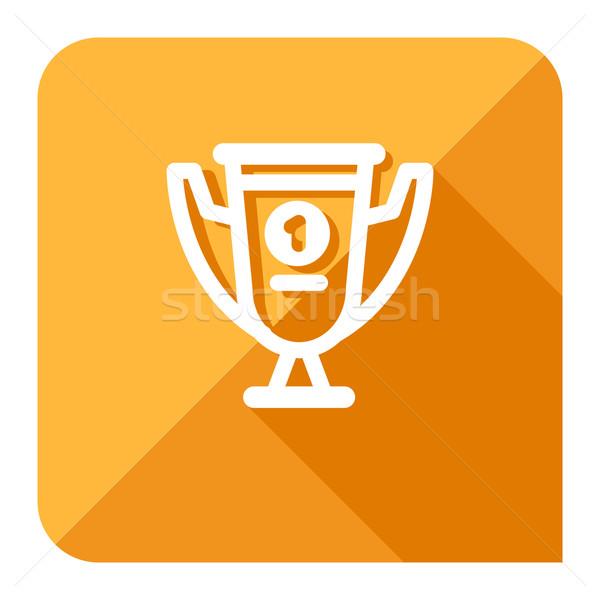 Eerste plaats beker icon trofee modieus computer Stockfoto © kraska