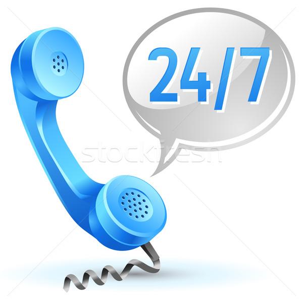Destek çağrı ikon 24 Internet Stok fotoğraf © kraska