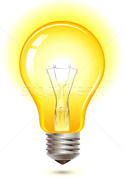 yellow light bulb Stock photo © kraska