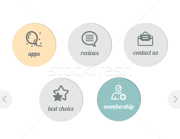 Semplice icone icone web web apps Foto d'archivio © kraska