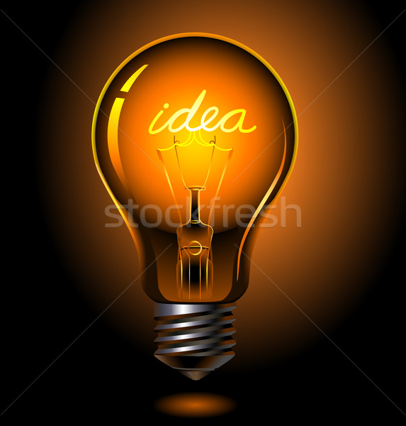 Stock photo: bulb idea