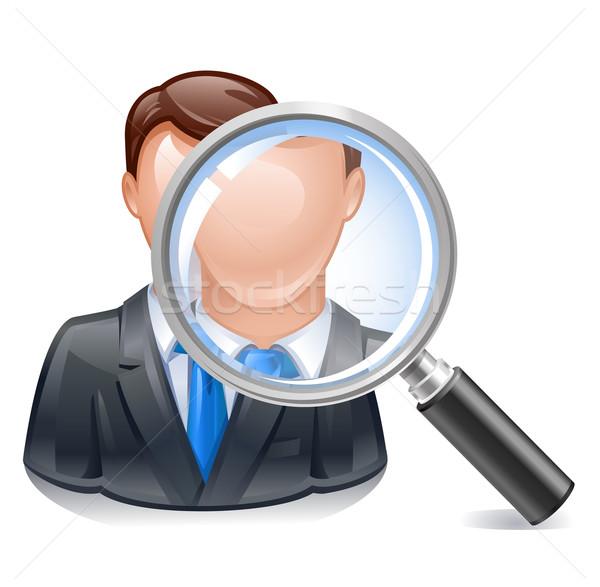 Pesquisar empregado ícone recrutamento agência negócio Foto stock © kraska