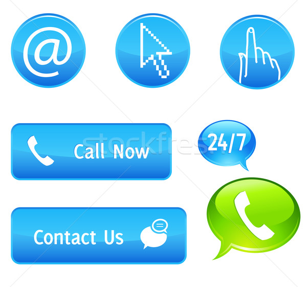 Chiamata ora pulsanti business telefono Foto d'archivio © kraska