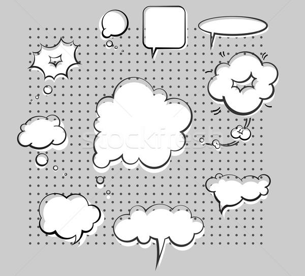 Chat bolle vettore inchiostro set carta Foto d'archivio © kraska